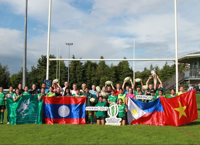 CHILDFUND PASS IT BACK AND THE WOMEN'S RUGBY WORLD CUP 2017,   BELFAST, NORTHERN IRELAND