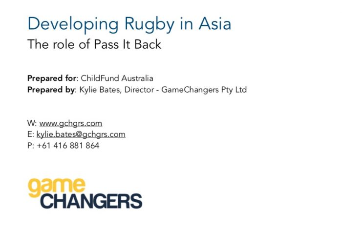 Developing Rugby In Asia