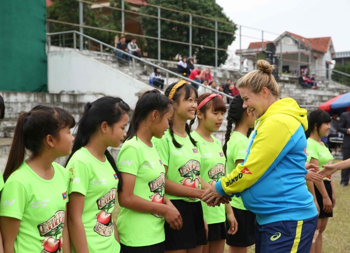 Rugby star Nicole Beck inspires a new generation of women in Vietnam