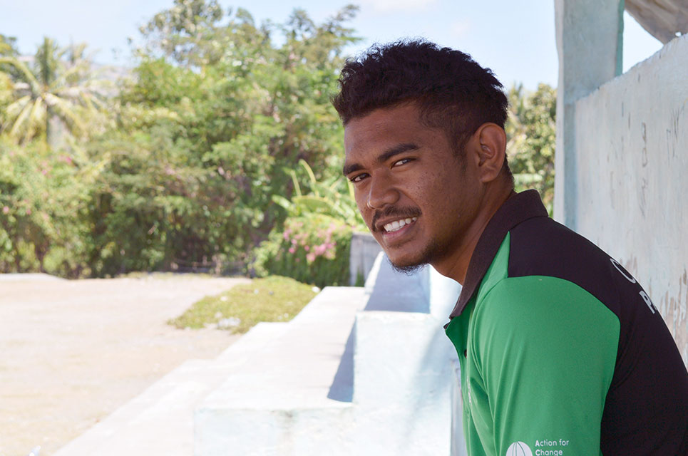 Reinaldo, ChildFund Pass It Back coach in Timor-Leste