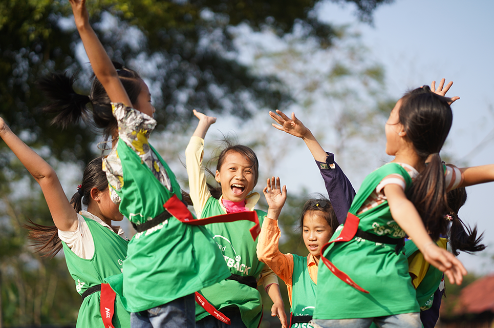 ChildFund Pass It Back players in Vietnam